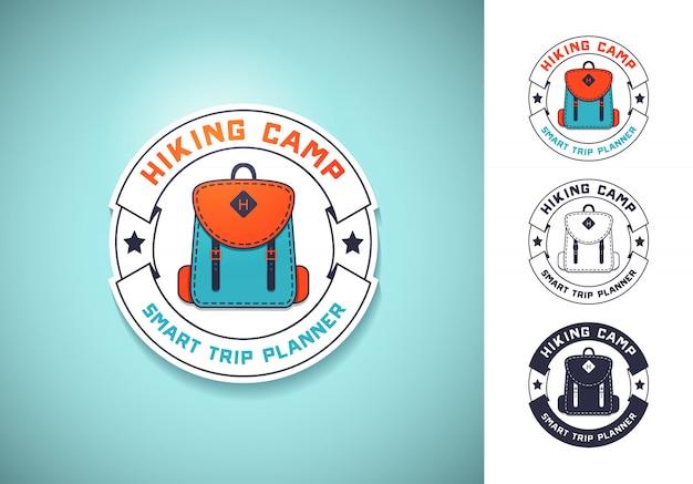 Винтажные логотипы, эмблемы, значки кемпинга и приключений на открытом воздухе.