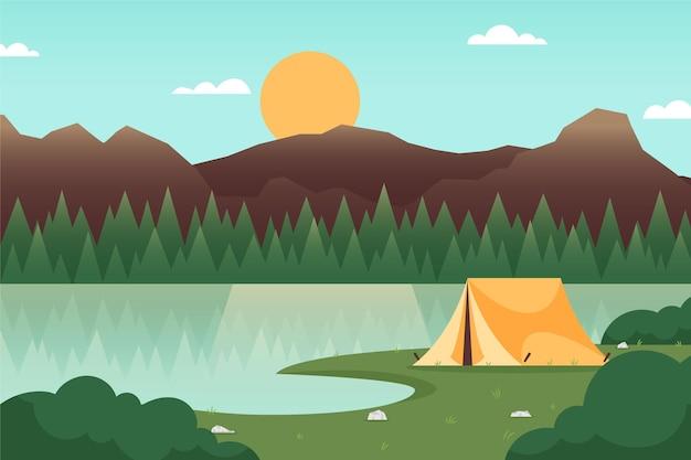캠핑 지역 풍경