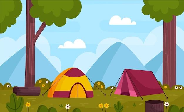 キャンプ場風景