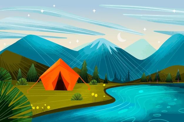 Camping area landscape
