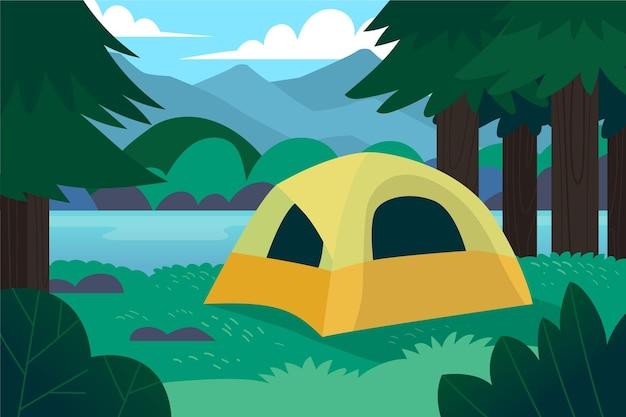 캠핑 지역 자연 경관