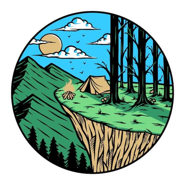 Кемпинг на вершине горы