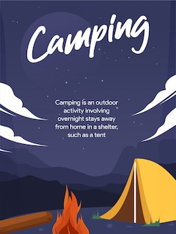 Camping background navy