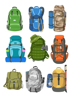 Camping backpacks set