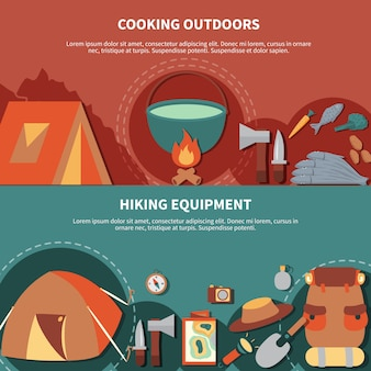 Camping banner set