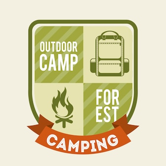 Camping design over background vector illustration