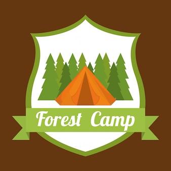 Camping design. illuistration