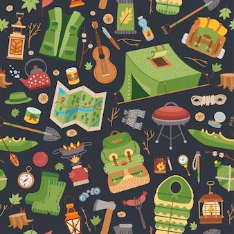 キャンプ用品のパターン