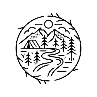 Camping in the forest badge