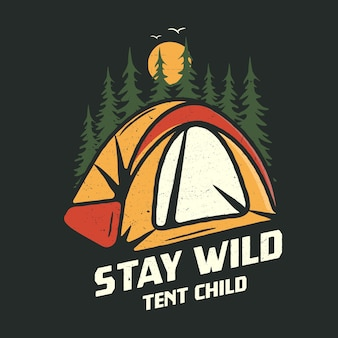 Camping graphic for t-shirt, prints.