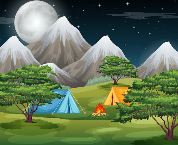 Camping in he nature