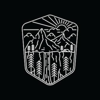 キャンプハイキング登山自然アドベンチャーグラフィックイラストアートtシャツ