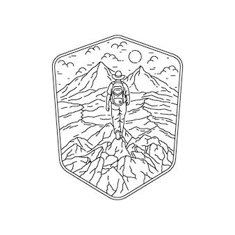 キャンプハイキングクライミングネイチャーアドベンチャー