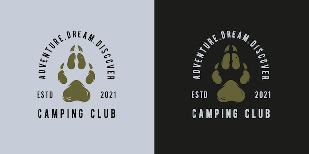 Camping or hiking footprint for travel print