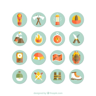 Campeggio e le escursioni icone