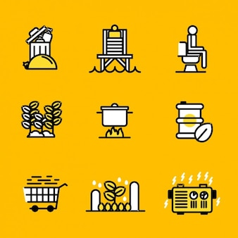 Camping icons design