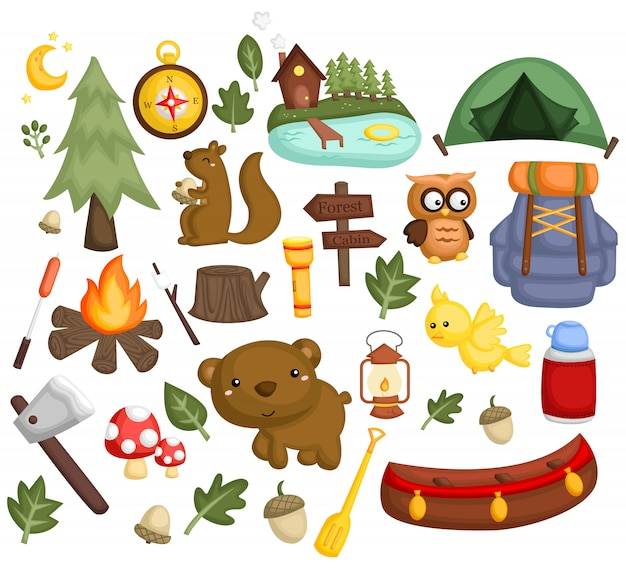 Camping image set