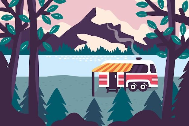 キャンプのランディングページのコンセプト