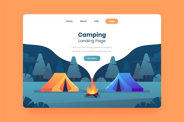 캠핑 방문 페이지 개념