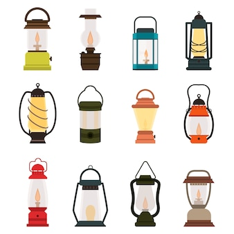 Коллекция масляных фонарей для кемпинга