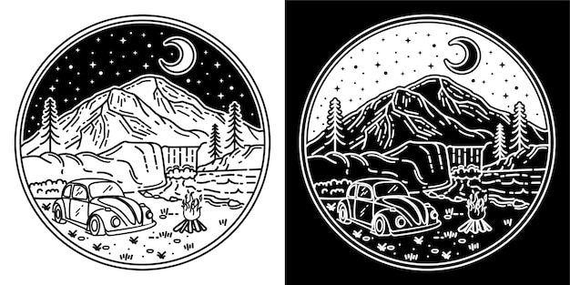 キャンプのロゴの冒険