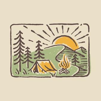 Нашивка для значка для кемпинга на природе