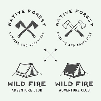 Camping outdoor and adventure emblem