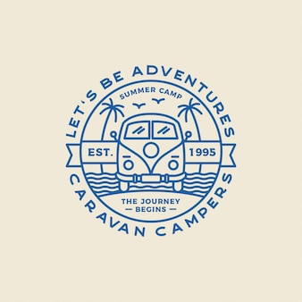 Camping outdoor and adventure logos, badges, labels, emblems, marks and design elements. graphic art.  .
