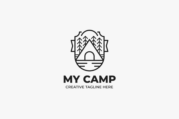 キャンプアウトドアネイチャーパークモノラインロゴ