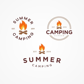 Camping summer logo