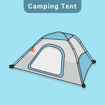 Camping tent vector in flat design
