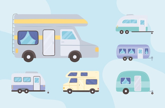 Camping trailer and van