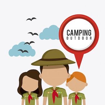 캠핑 여행 및 휴가.