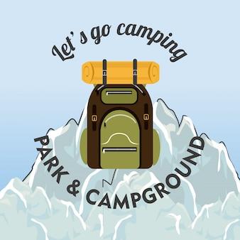 キャンプ、旅行、休暇