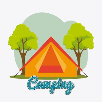 Camping, travel and vacations