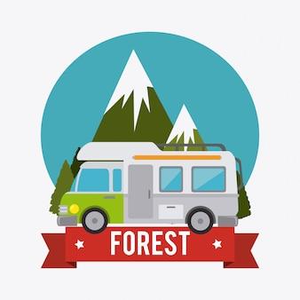 Camping, travel and vacations