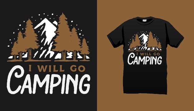 キャンプtシャツ