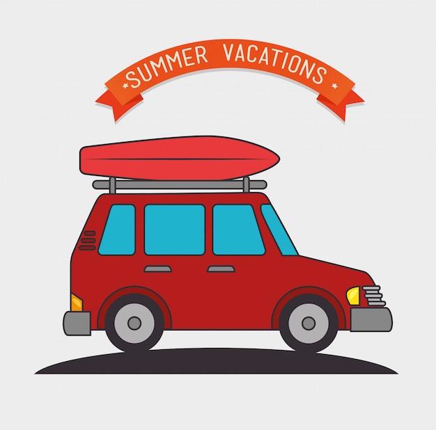 Camping vacation and travel