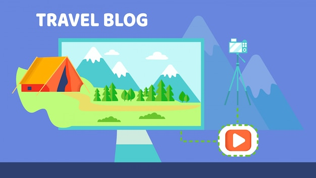 キャンプビデオブログ