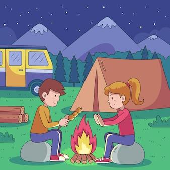 キャラバンをコンセプトにキャンプ
