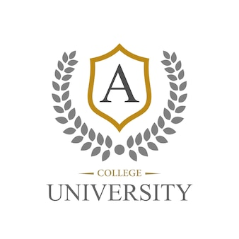 Campus, collage, and university education logo design template