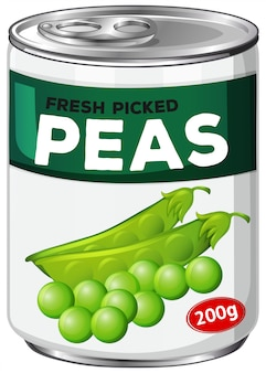 Can of fresh picked peas