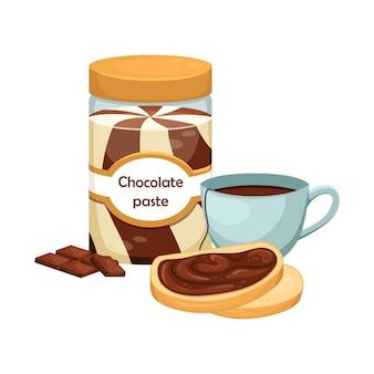흰색 절연 초콜릿 페이스트의 수