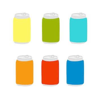 かわいいカワイイレモンストロベリーバナナソーダレモネードの缶赤黄色のアルミニウムリサイクル可能な瓶