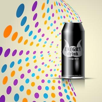 ソーダまたはエネルギー飲料のバックグラウンド