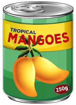熱帯マンゴーの缶詰