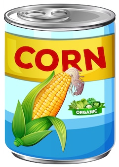 Can of organic corn