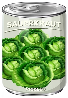 A can of pickled sauerkraut