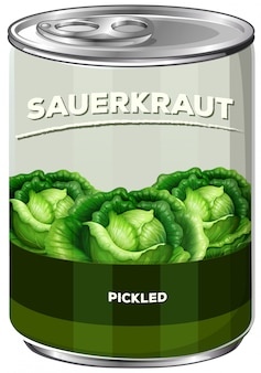 A can of sauerkraut