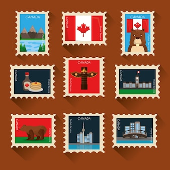 Canada collection postage stamp classic composition